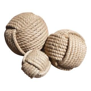 Decorative Jute Balls - Set of 3