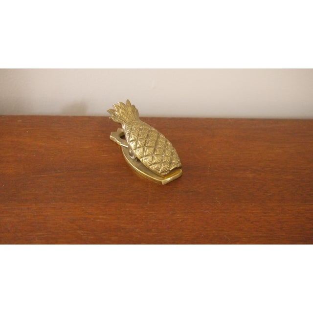 Image of Hollywood Regency Brass Pineapple Paperclip