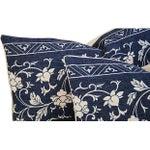 Image of Custom Indigo Blue Linen & Down Pillows - Pair