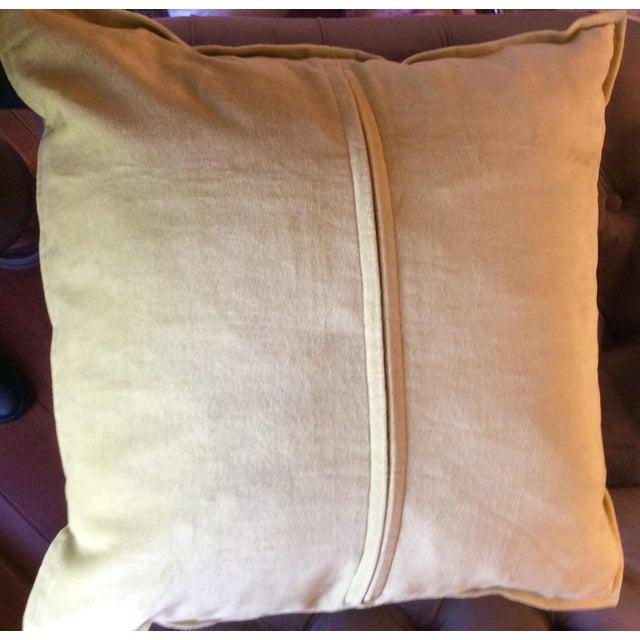 Silk Magenta & Gold Block Print Pillows - A Pair - Image 5 of 5