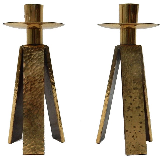 3 Legged One Light Candle Holder - Pair - Image 2 of 6