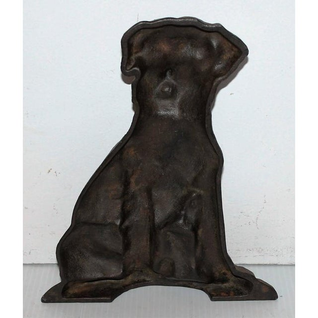 Monumental 19Thc Cast Iron Dog - Image 3 of 5