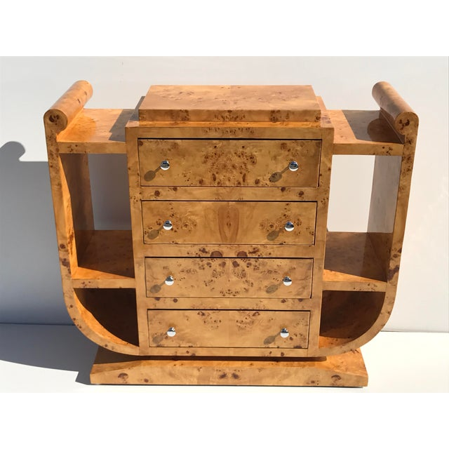 Biedermeier Olive Burl Chest of Drawers - Image 3 of 10