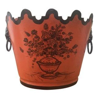 Vintage Tole Cachepot