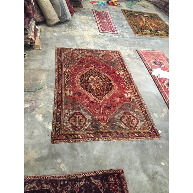 Red Quashaghi Persian Rug - 5′3″ × 8′6