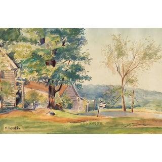 Rural Landscape by M. Fischel, 1960