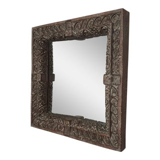 South Asian Style Faux Wood Mirror