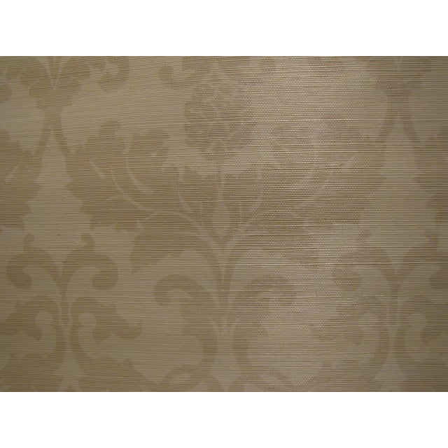 "Schumacher Grasscloth ""Beau Damasse"" Wallpaper - Image 2 of 2"