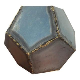 Brutalist Zinc Geometric Planter