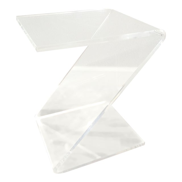 Vintage Lucite Z End Table Mascheroni Style - Image 1 of 7