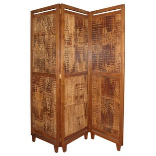 3 Panel Bamboo Screen Room Divider