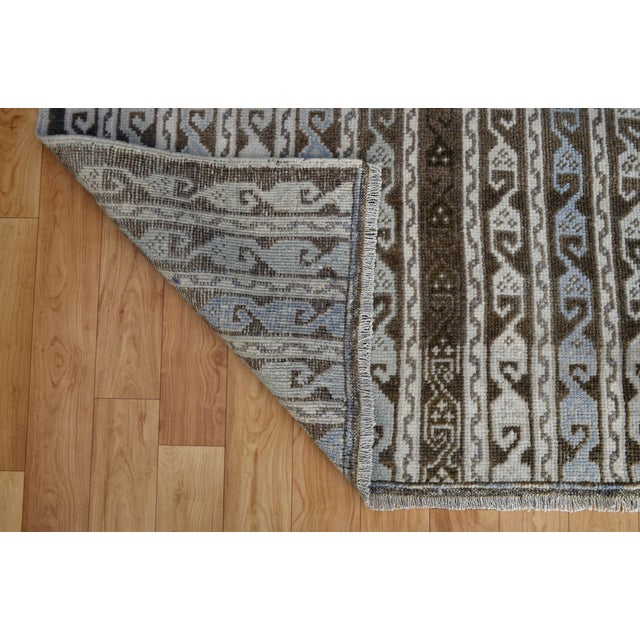 Hand-Knotted Turkish Antique Effect Rug - 3′ X 7′ - Image 8 of 9