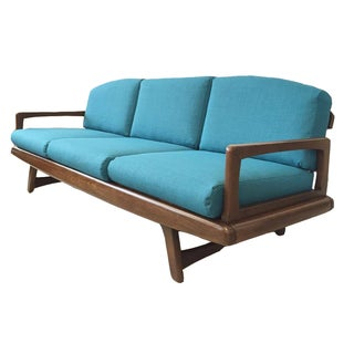 Adrian Pearsall Style Turquoise Sofa