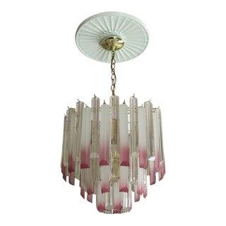 Pink Lucite Chandelier