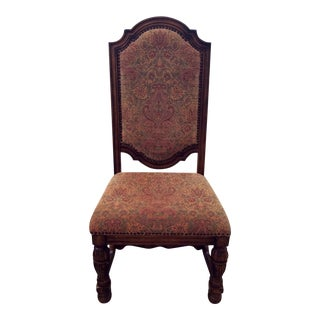French Tapestry Nail-Head Chair