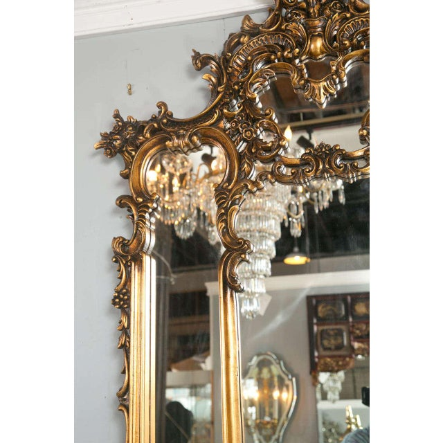 French rococo style mantle mirror chairish for French rococo style