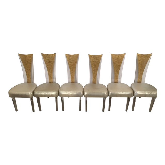 Vintage Glam & Unique Lucite Dining Chairs - Set of 6 - Image 1 of 9