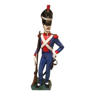 Red White and Blue Foreign Soldier Statue