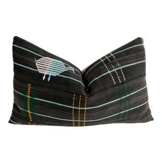 Vintage African Textile & Linen Pillow