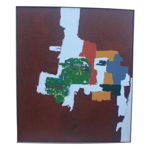 Mid-Century Modern Abstrac Expressionist Painting - Image 1 of 11