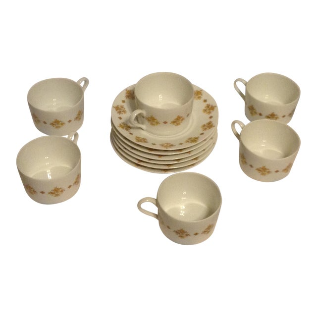 Limoges Demitasse Cups & Saucers - Set of 6 - Image 1 of 7