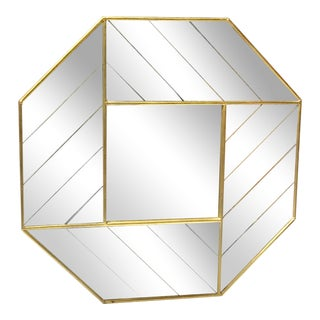 Gold Leaf Octagon Wall Mirror