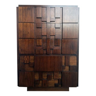 Paul Evans for Lane Brutalist Tallboy Dresser