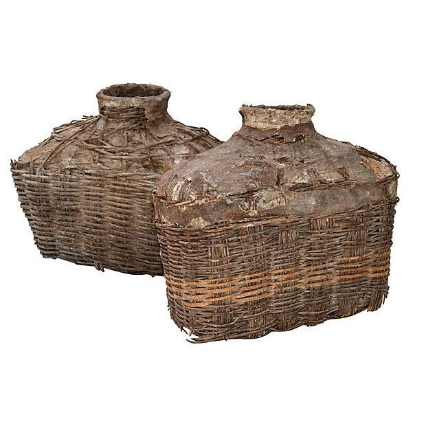 Antique Chinese Large Fishing Basket - A Pair - Image 1 of 5