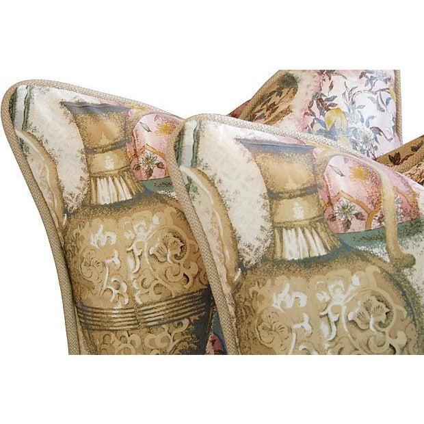 Custom Chinoiserie Vase Pillows - Pair - Image 4 of 7