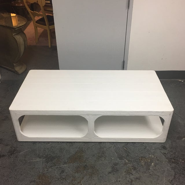 Dovetail White Shabby Chic Coffee Table - Image 4 of 9