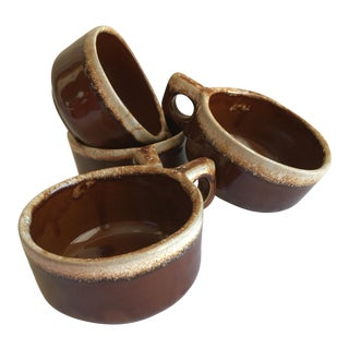 Rustic Ceramic Soup or Latte Mugs - Set of Four