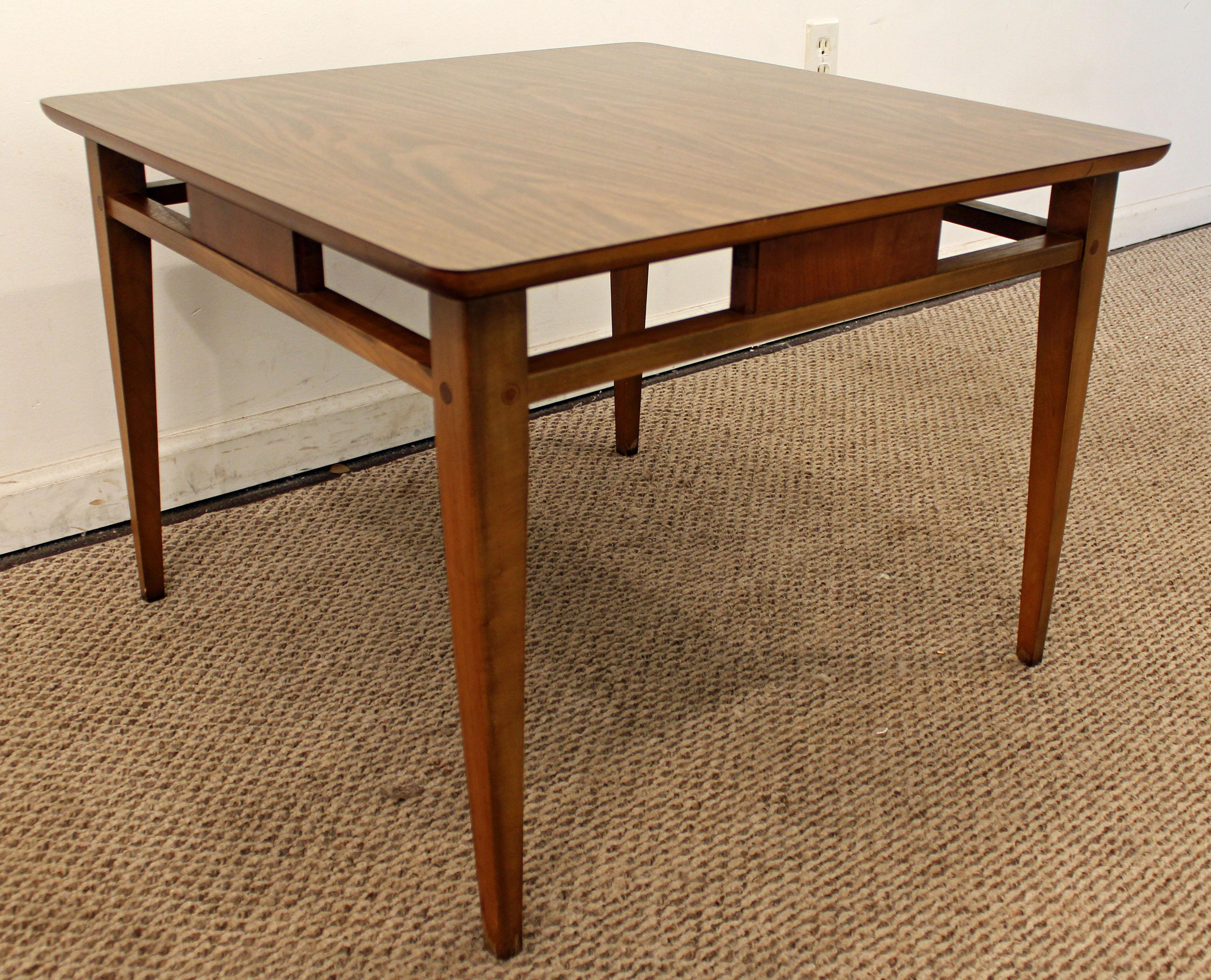 Lane Mid Century Danish Modern Laminate Top Walnut End/Side Table   Image 2