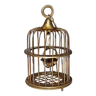 Brass Mini Bird-in-Cage