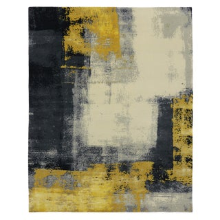 Modern Style Contemporary Abstract Color Block Design Rug - 8' x 10'