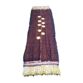 Hand Decorated Indian Mirrored Bed Throw