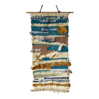 Mid-Century Fiber Art Textile Wall Hanging