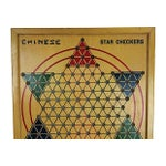 Image of Milton Bradley 1940s Wood Chinese Checker Board