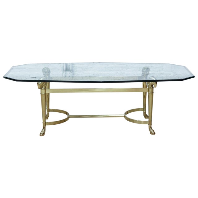 Image of Ram's Head Brass Coffee Table
