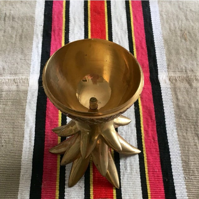 "7"" Brass Pineapple Container - Image 8 of 9"