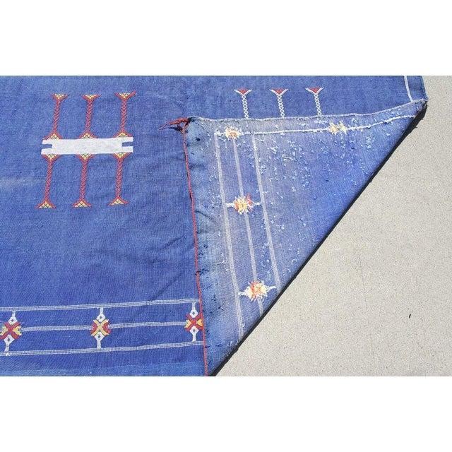 "Moroccan Indigo Blue Cactus Silk Rug- 4'5"" x 8' - Image 5 of 6"