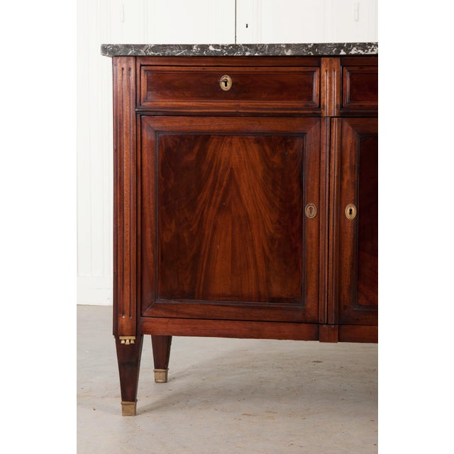 French Early 19th Century Mahogany Directoire Enfilade with Marble Top - Image 6 of 10