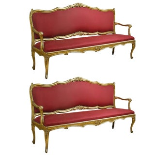Extraordinary Louis XV Settees - A Pair
