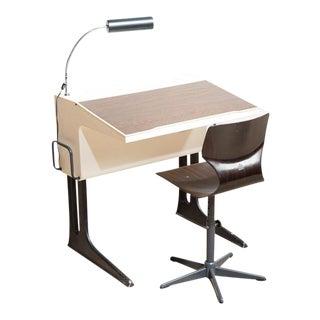 Mid-Century Modern Desk & Chair by Luigi Colani