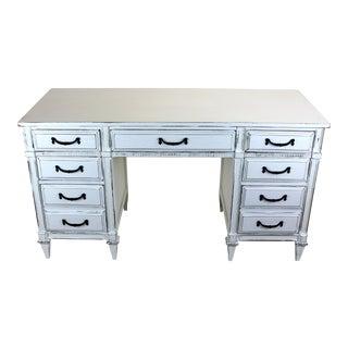 Vintage Mid-Century White Desk