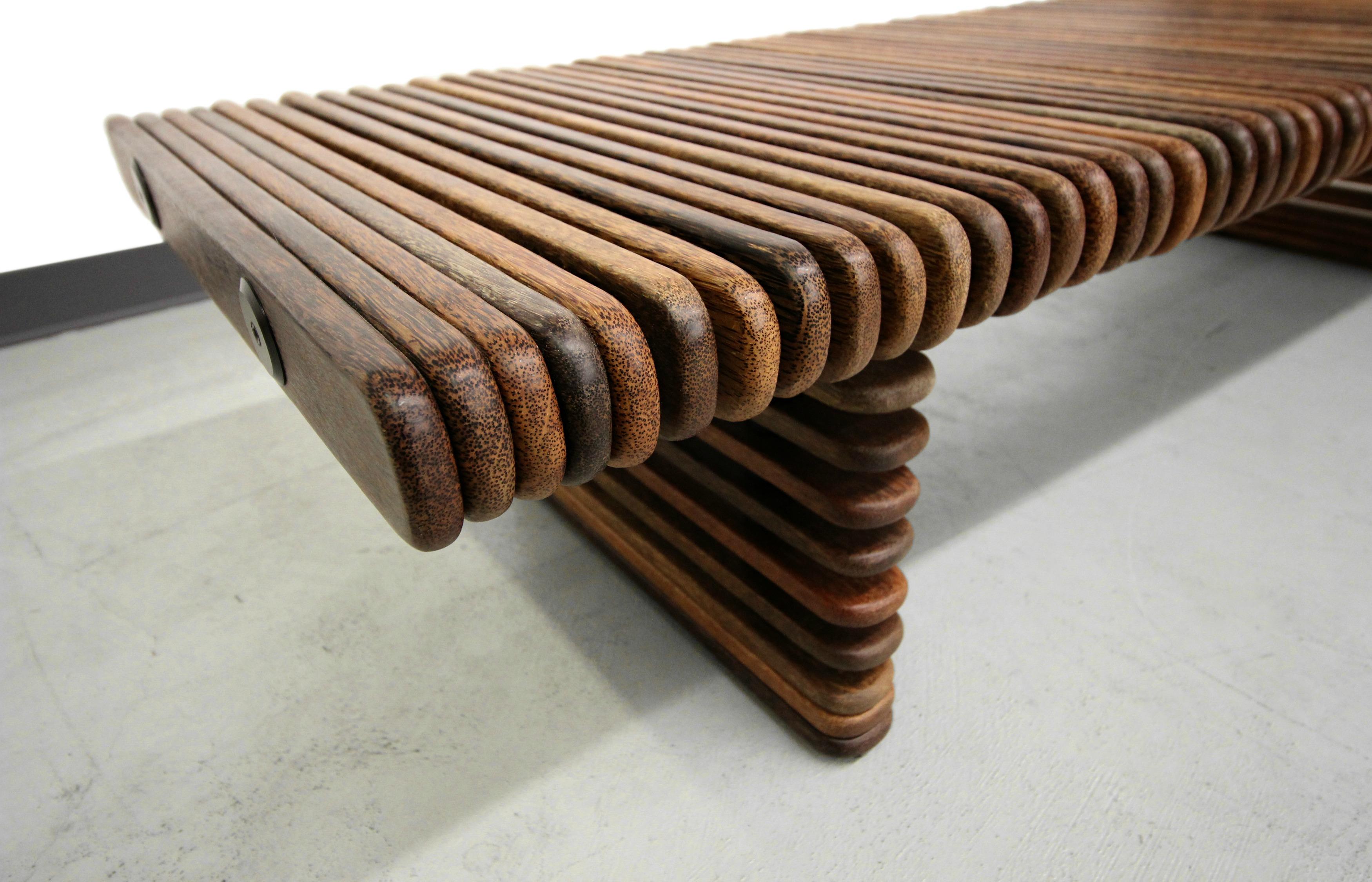 Pacific Green Palmwood Slat Bench Coffee Table   Image 7 Of 7