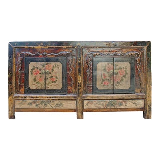 Chinese Distressed Brown Sideboard