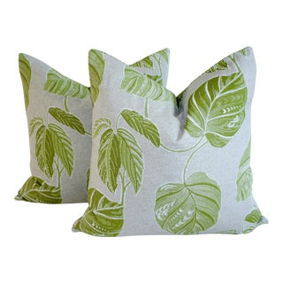Tropical Linen Pillow Covers - a Pair