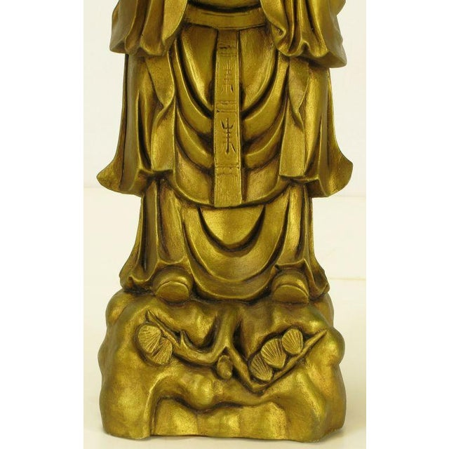 Image of Confucius Gilt Metal Table Lamp