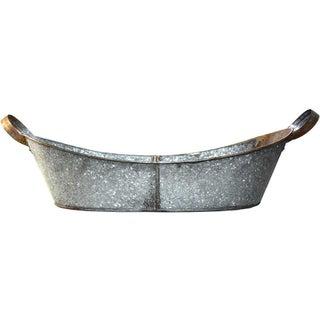 Handled Galvanized Metal Tub