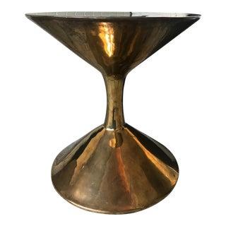 Jonathan Adler Brass Hans Barbell Side Table